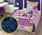 DETEXPOL Povlečení Play Game svítící Bavlna, 140/200, 70/80 cm Povlečení pro teenagery