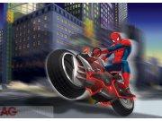 Fototapeta vliesová Spiderman na motorce FTDNM-5222, rozměry 160 x 110 cm Fototapety pro děti - Fototapety dětské vliesové