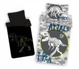 JERRY FABRICS Povlečení T-rex svítící Bavlna, 140/200, 70/90 cm Dětské povlečení nelicenční