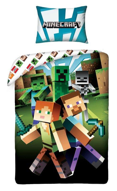 HALANTEX Povlečení Minecraft zombie Bavlna, 140/200, 70/90 cm - Povlečení pro teenagery