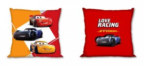 FARO Povlak na polštářek Cars Love Racing Bavlna, 40/40 cm Polštářky - povláčky na polštářky