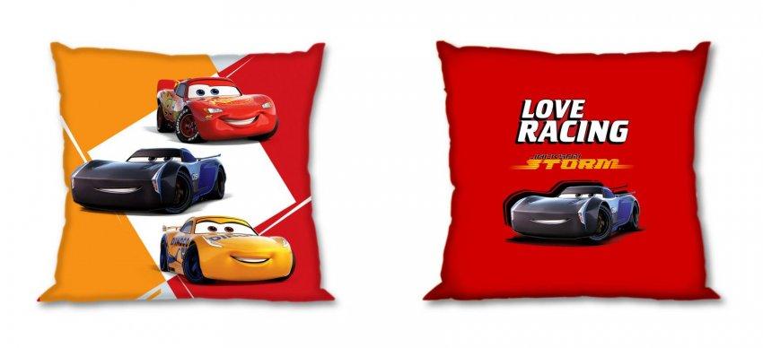 FARO Povlak na polštářek Cars Love Racing Bavlna, 40/40 cm - povláčky na polštářky