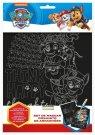 EUROSWAN Škrábací obrázek Paw Patrol Papír, 27x19 cm Hračky a doplňky - Zábava