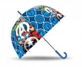 EUROSWAN Vystřelovací průhledný deštník Avengers POE, průměr 70 cm Do školy a školky - deštníky