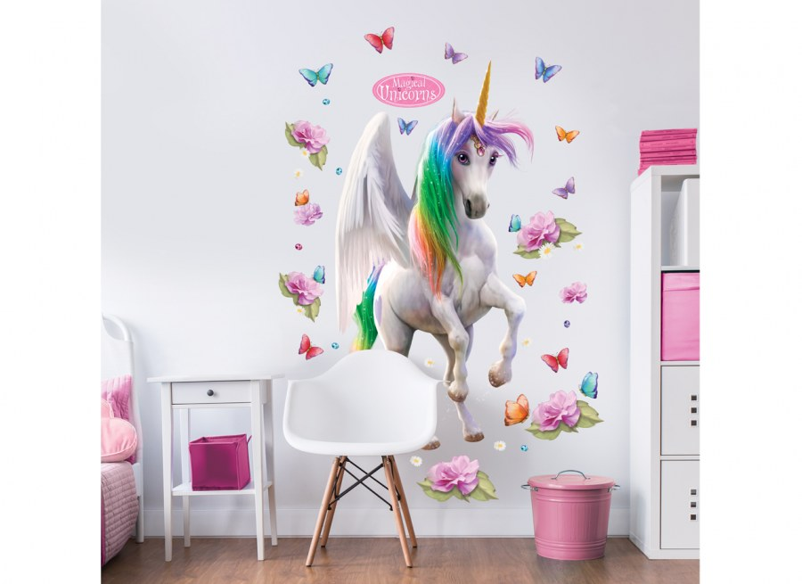 Samolepicí dekorace Walltastic Jednorožci 45996 - Dekorace ostatní