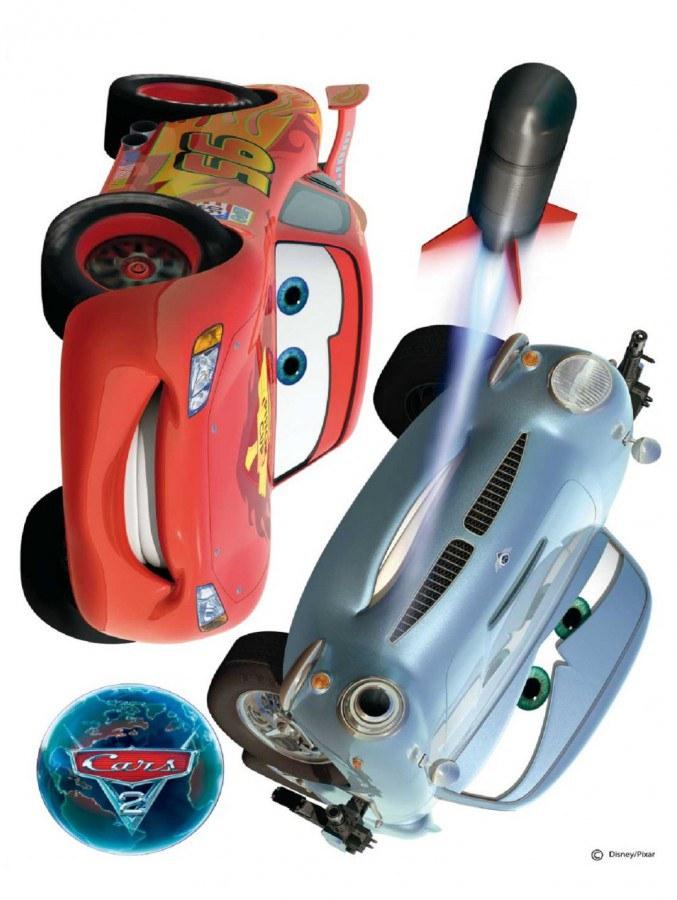 Maxi nálepka Cars a raketa AG Design DK-0885, rozměry 85 x 65 cm - Dekorace Cars