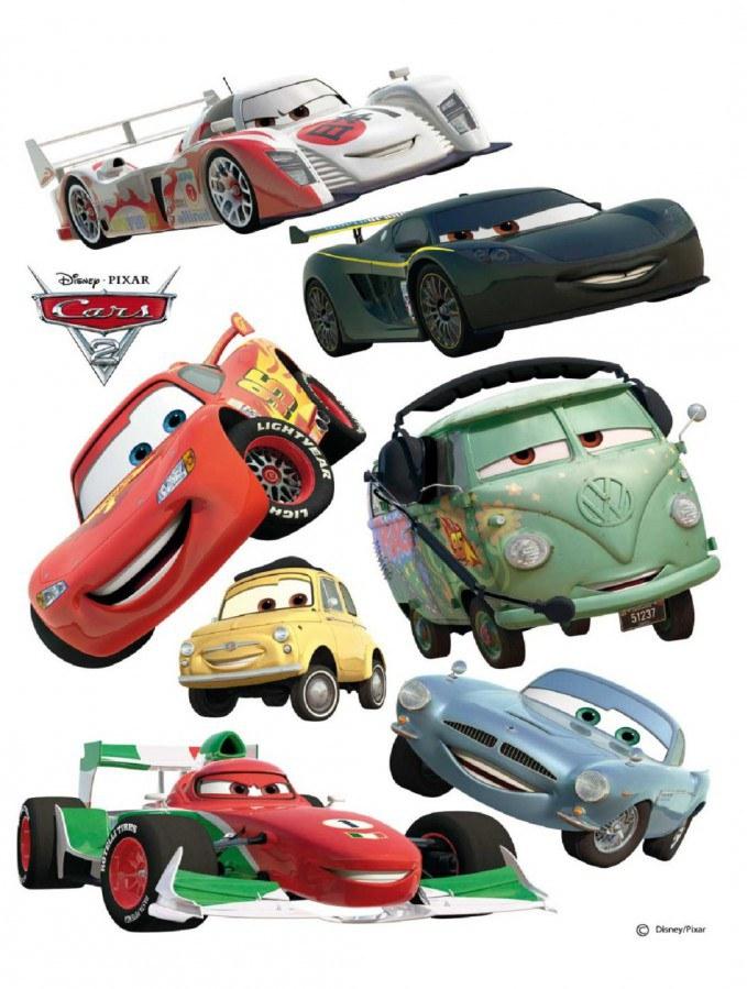 Maxi nálepka Cars a ralye AG Design DK-0886, rozměry 85 x 65 cm - Dekorace Cars