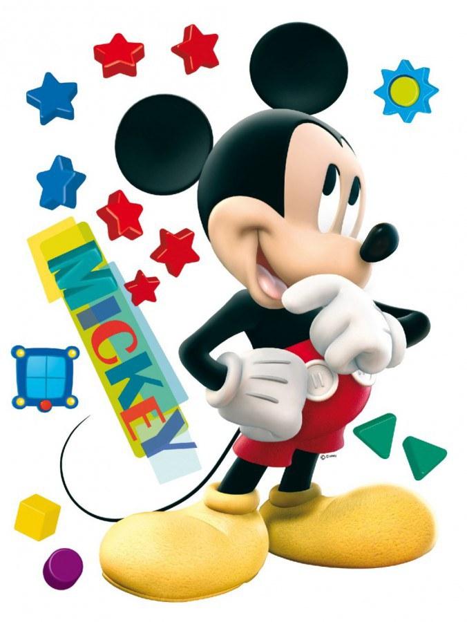 Maxi nálepka Mickey Mouse AG Design DK-0858, rozměry 85 x 65 cm - Dekorace Mickey Mouse