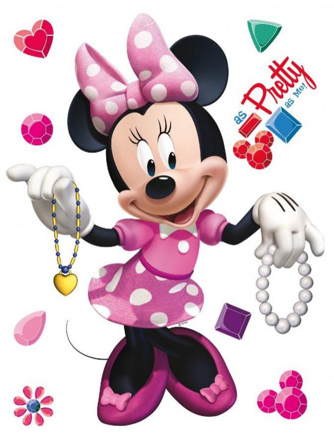 Maxi nálepka Minnie AG Design DK-0857, rozměry 85 x 65 cm - Dekorace Mickey Mouse