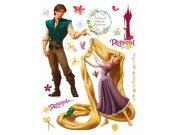 Maxi nálepka Rapunzel a Princ AG Design DK-0852, rozměry 85 x 65 cm Dekorace Na Vlásku