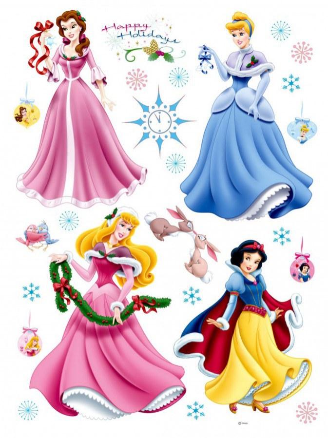 Maxi nálepka Princezny a vánoce AG Design DK-0888, rozměry 85 x 65 cm - Dekorace Princezny