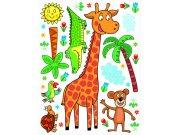 Maxi nálepka Žirafa K-1043, rozměry 85 x 65 cm Dekorace ostatní
