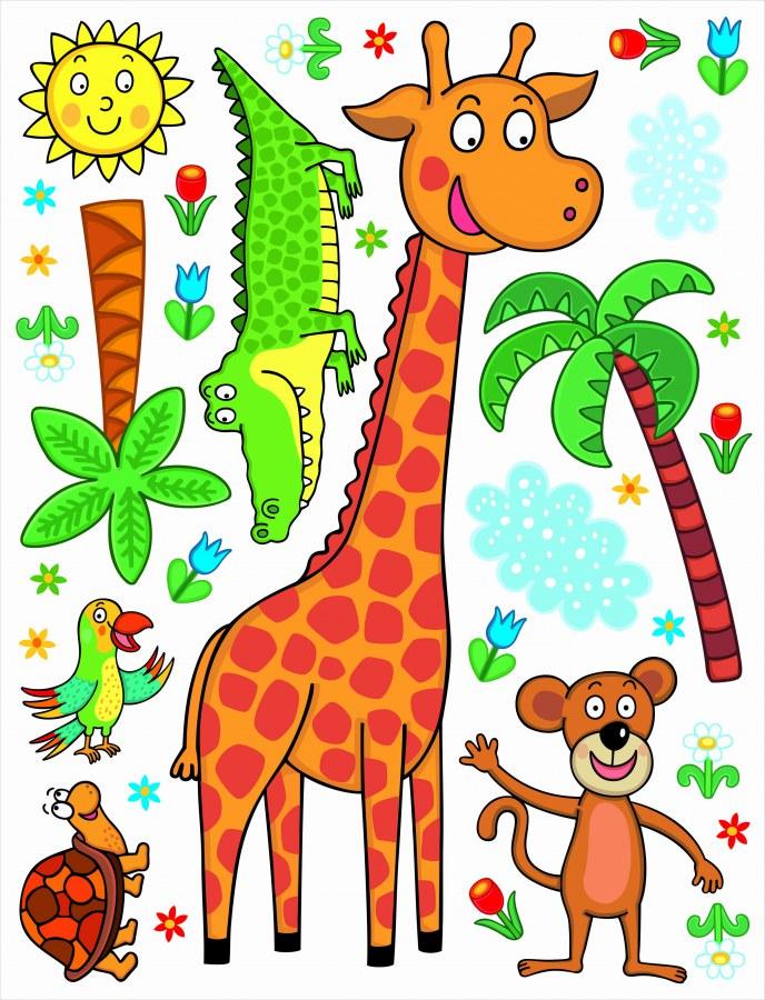 Maxi nálepka Žirafa K-1043, rozměry 85 x 65 cm - Dekorace ostatní