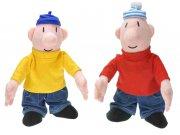 Plyšové postavičky se zvukem Pat a Mat 35 cm Plyšové figurky Pat a Mat