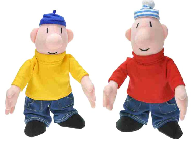 Plyšové postavičky Pat a Mat 18 cm - Plyšové figurky Pat a Mat