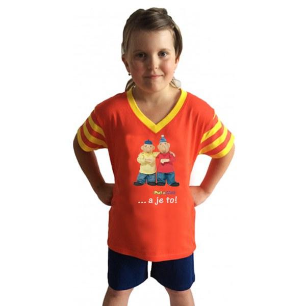 Dětské pyžamo Pat a Mat krátké, velikost 110 | TEXTIL PAT  &  MAT - Pyžama Pat a Mat - Pyžama dětské Pat a Mat - Pyžamo krátké