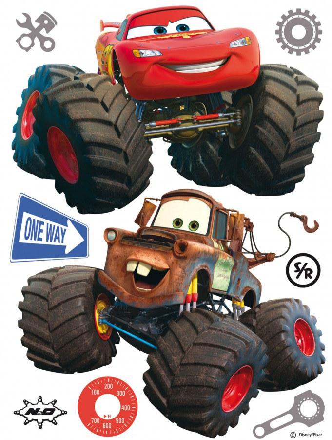 Maxi nálepka Cars monster track AG Design DK-1765, rozměry 85 x 65 cm - Dekorace Cars