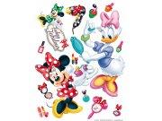 Maxi nálepka Minnie a šminky AG Design DK-1767, rozměry 85 x 65 cm Dekorace Mickey Mouse