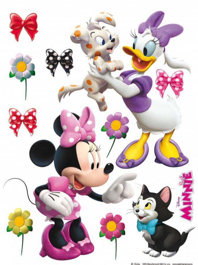 Maxi nálepka Minnie a zvířátka AG Design DK-1768, rozměry 85 x 65 cm - Dekorace Mickey Mouse
