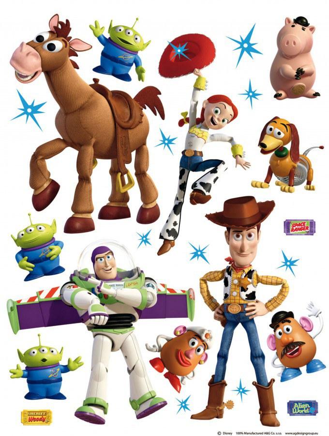 Maxi nálepka Toy Story AG Design DK-1771, rozměry 85 x 65 cm - Dekorace Toy Story