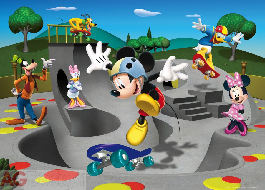 Fototapeta vliesová Mickey freestyle FTDNM-5229, rozměry 160 x 110 cm - Fototapety dětské vliesové