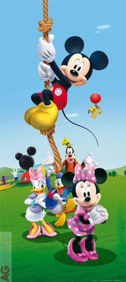 Fototapeta vliesová Mickey on rope FTDNV-5458, 90 x 202 cm - Fototapety dětské vliesové