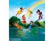 Vliesová fototapeta Fairies with Rainbow FTDNXL-5130, rozměry 180 x 202 cm Fototapety pro děti - Fototapety dětské vliesové