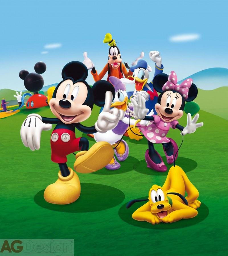 Dětská vliesová fototapeta Mickey Mouse a přátelé FTDNXL5131, rozměry 180 x 202 cm | Fototapety pro děti Fototapety dětské vliesové