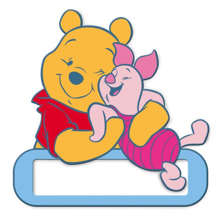 Jmenovka na dveře Medvídek Pú D48320, rozměry 12 x 12 cm | Dekorace do dětských pokojů Dekorace Medvídek Pú
