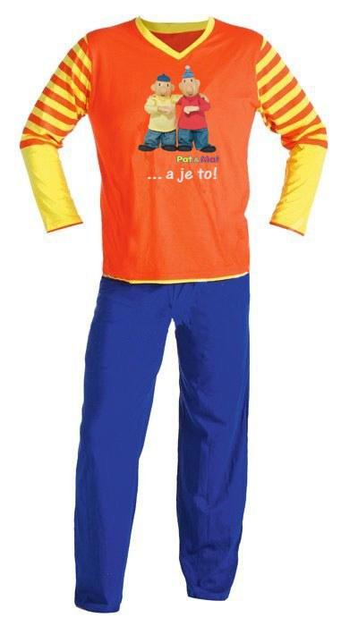 Dětské pyžamo Pat a Mat dlouhé, velikost 146 | TEXTIL PAT  &  MAT - Pyžama Pat a Mat - Pyžama dětské Pat a Mat - Pyžamo dlouhé