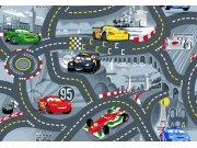 Dětský koberec Cars Racing šedý kruh, průměr 200 cm Koberce na hraní