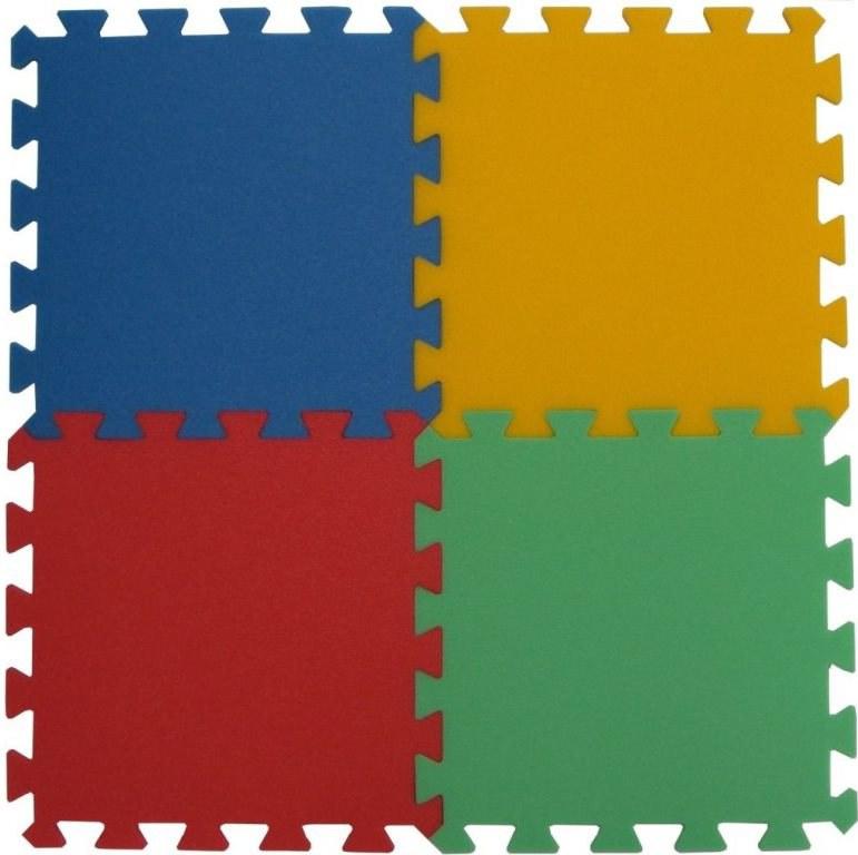 Podlahové pěnové puzzle koberec 4 malé dílky 8 mm, rozměry 61 x 61 cm - Dětské koberce