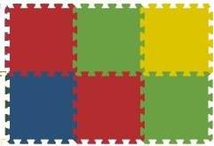 Podlahové pěnové puzzle koberec 6 malých dílků 8 mm, rozměry 61 x 91 cm - Dětské koberce