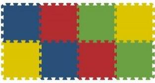 Podlahové pěnové puzzle koberec 8 malých dílků 16 mm, rozměry 61 x 121 cm - Dětské koberce