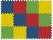 Podlahové pěnové puzzle koberec 12 malých dílků 8 mm, rozměry 91 x 121 cm Dětské koberce