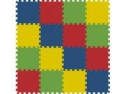 Podlahové pěnové puzzle koberec 16 malých dílků 8 mm, rozměry 121 x 121 cm Dětské koberce