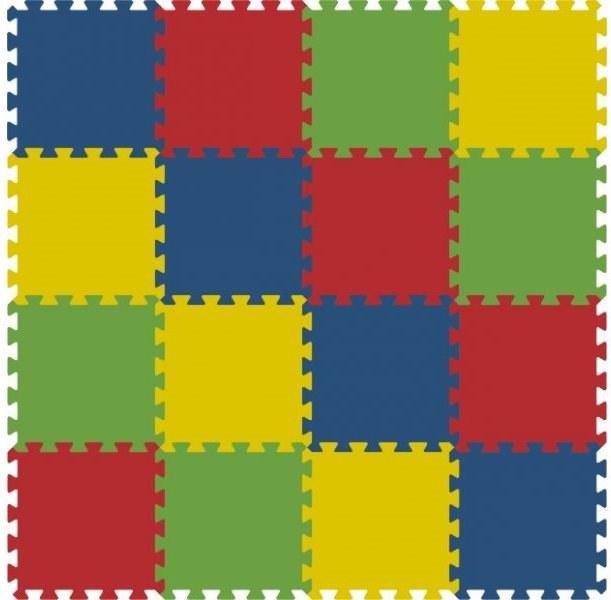Podlahové pěnové puzzle koberec 16 malých dílků 16 mm, rozměry 121 x 121 cm
