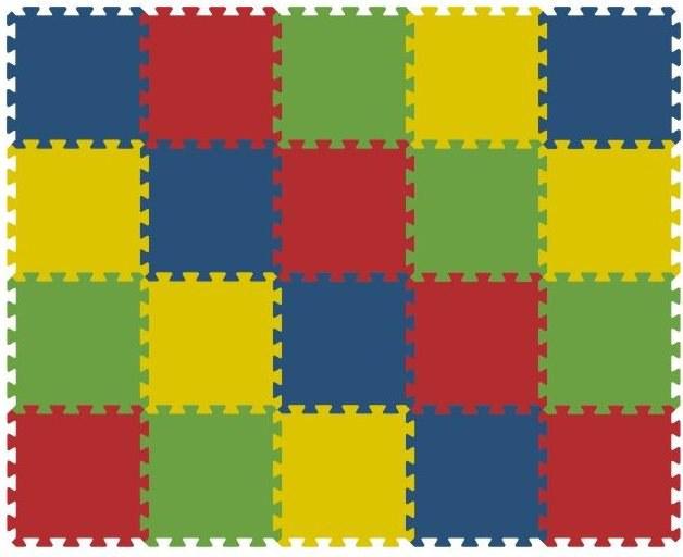 Podlahové pěnové puzzle koberec 20 malých dílků 16 mm, rozměry 121 x 151 cm - Dětské koberce