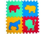 Pěnové puzzle koberec Zvířátka II 8 mm, rozměry 61 x 61 cm Dětské koberce