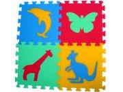 Pěnové puzzle koberec Zvířátka III 8 mm, rozměry 61 x 61 cm Dětské koberce