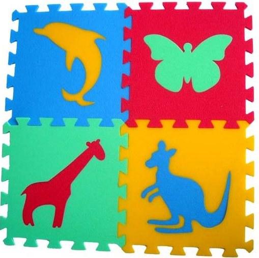 Pěnové puzzle koberec Zvířátka III 16 mm, rozměry 61 x 61 cm - Dětské koberce