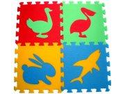 Pěnové puzzle koberec Zvířátka IV 8 mm, rozměry 61 x 61 cm Dětské koberce