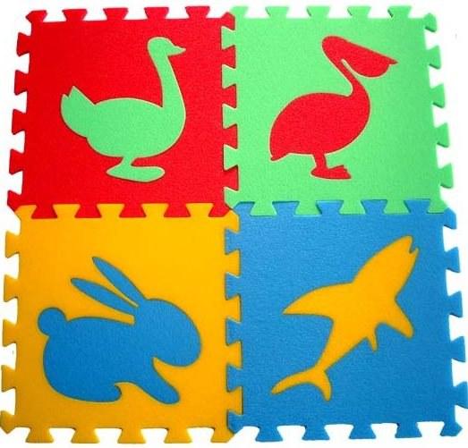 Pěnové puzzle koberec Zvířátka IV 8 mm, rozměry 61 x 61 cm - Dětské koberce