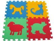 Pěnové puzzle koberec Zvířátka V 8 mm, rozměry 61 x 61 cm Dětské koberce