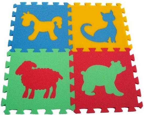 Pěnové puzzle koberec Zvířátka V 16 mm, rozměry 61 x 61 cm - Dětské koberce