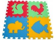 Pěnové puzzle koberec Zvířátka VI 8 mm, rozměry 61 x 61 cm Dětské koberce