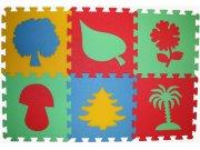 Pěnové puzzle koberec Rostliny 8 mm, rozměry 61 x 91 cm Dětské koberce