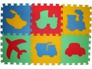 Pěnové puzzle koberec Doprava 8 mm, rozměry 61 x 91 cm Dětské koberce