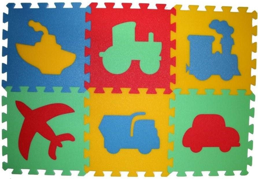 Pěnové puzzle koberec Doprava 8 mm, rozměry 61 x 91 cm - Dětské koberce