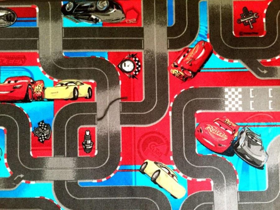 Dětský koberec Cars 3, průměr 100 cm - Koberce na hraní